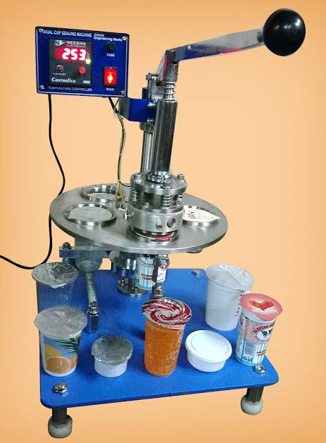 Manual Operate Cup Sealing Machine Rotary Cup Sealing